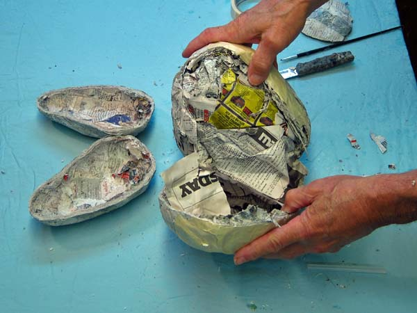 second paper mache ball for jaw
