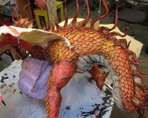 Year of the Paper Mache dragon-blackwash 2