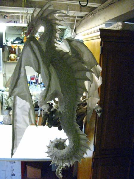 Paper mache sea dragon gourmet paper mache blog for Cool paper mache