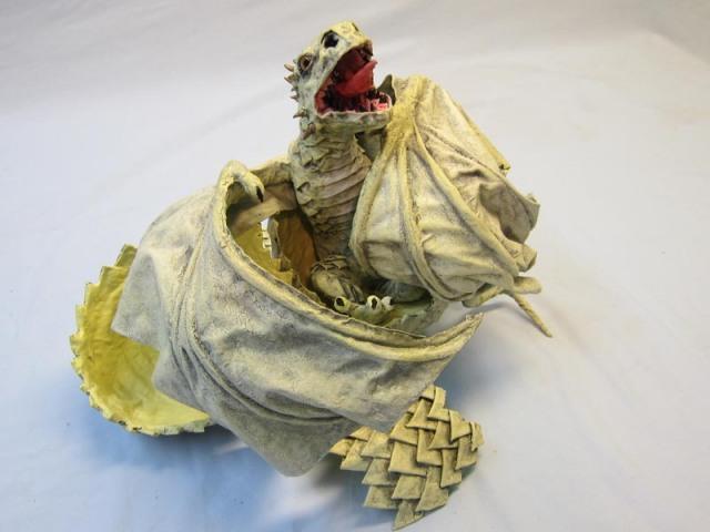 paper mache baby dragon 2