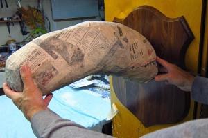 19 Paper Mache Drogon- Neck