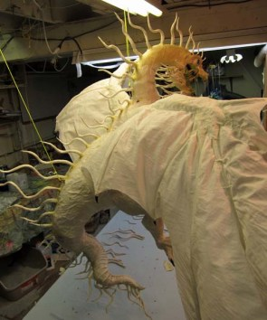 Year of the Paper Mache dragon-more spines on back
