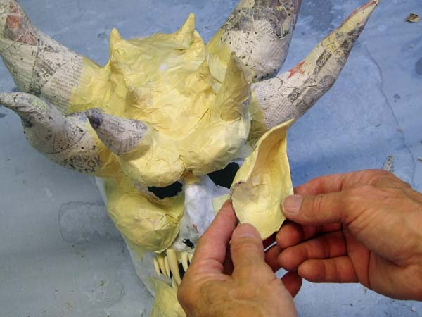 paper mache ear