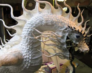 Year of the Paper Mache dragon-scales 3