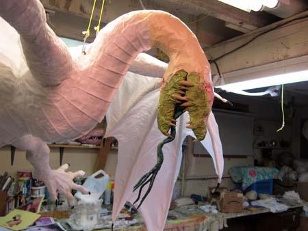 Year of the Paper Mache dragon-head