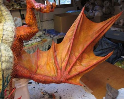 Year of the Paper Mache dragon-blackwash1
