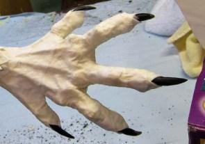 Year of the Paper Mache dragon-cloth mache feet