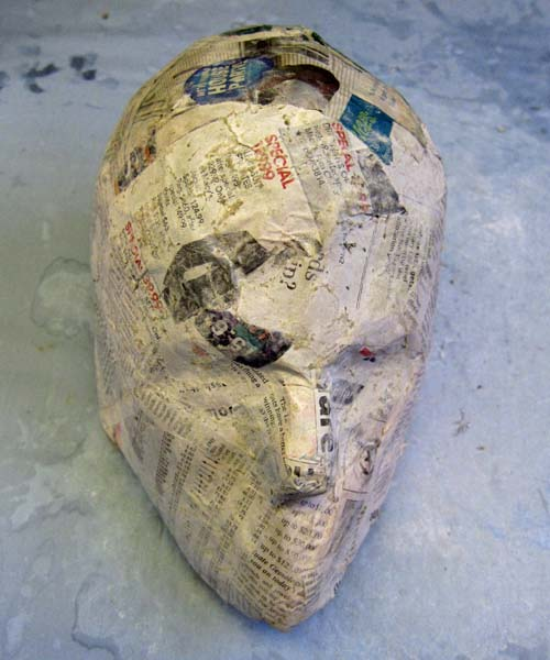 paper mache mask face impression