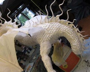 Year of the Paper Mache dragon-scales 2