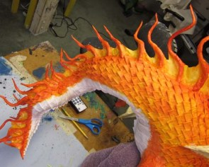 Year of the Paper Mache dragon-paint 1
