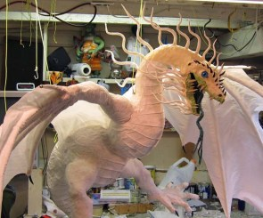 Year of the Paper Mache dragon-finish cloth mache