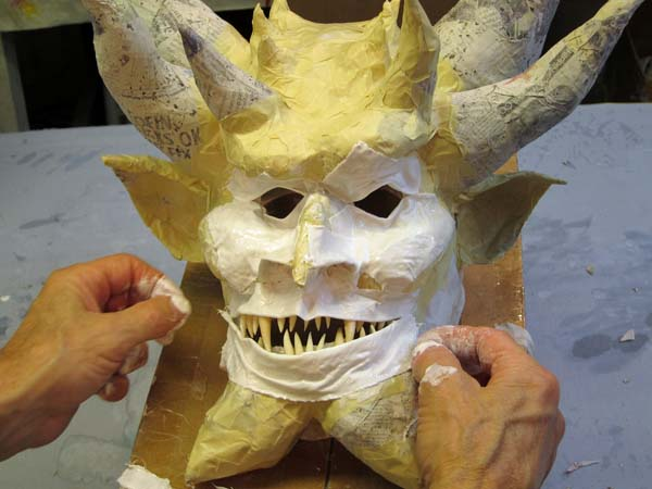 paper mache lower lip