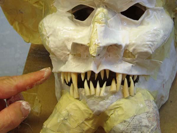 paper mache upper lip