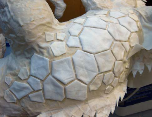 how to make paper mache texture