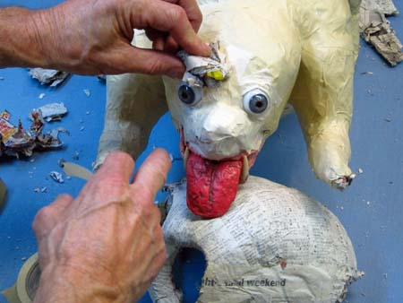 paper mache dog-brows