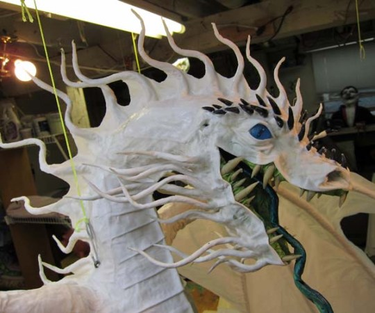 Year of the Paper Mache dragon-face done