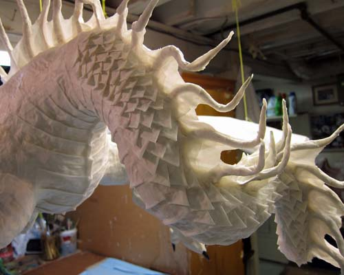 how to make dragon scales out of paper
