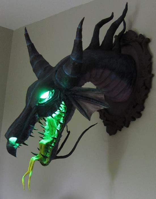 paper mache Maleficent