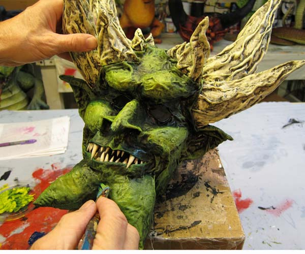 paper mache mask-highlights