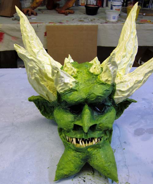 paper mache mask-finish paint