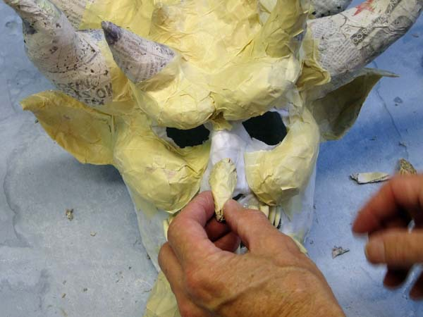 paper mache nose