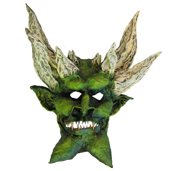 paper mache green mask
