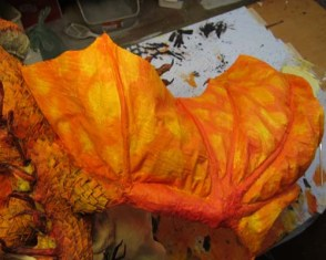 Year of the Paper Mache dragon-paint 3
