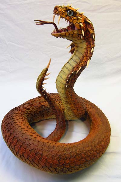 paper mache Naga- side view