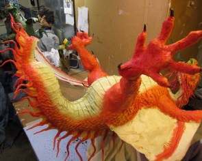 Year of the Paper Mache dragon-paint 2