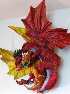 "Paper Mache ""Double Dragon"""