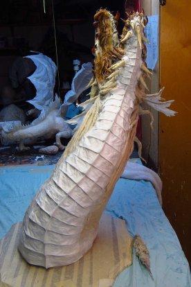 paper mache zombie dragon-breast plates