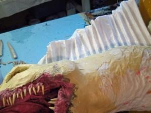 41 paper mache drogon-webbing spines
