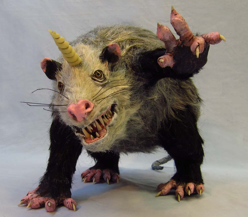 Paper mache unipossum gourmet paper mache blog for Making paper mache animals