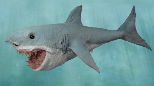 Paper Mache Shark