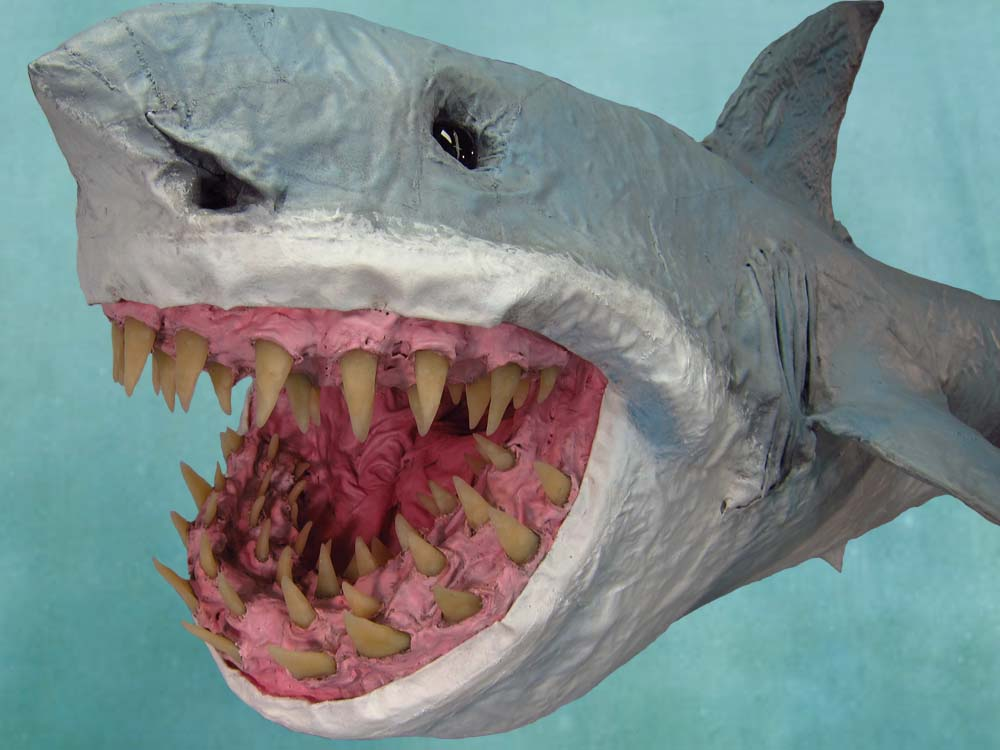 Paper mache great bite shark gourmet paper mache blog for What can you paper mache