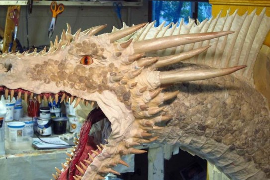paper mache Dragon- with scales