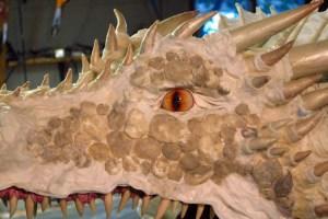 Paper mache Drogon- face 1