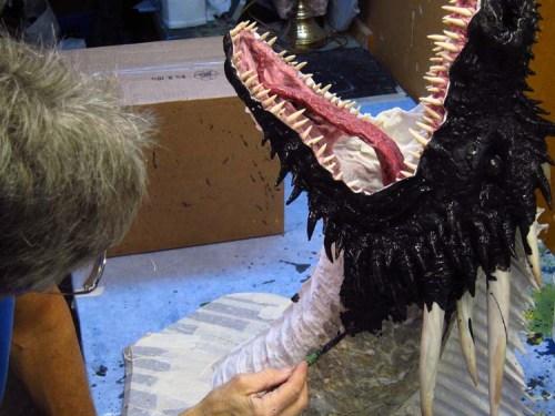 Paper Mache Drogon Tropy- paint