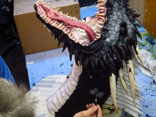 Paper Mache Drogon Tropy- paint white on black
