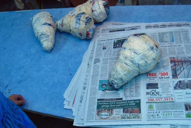 Paper Mache Tiamat Dragons