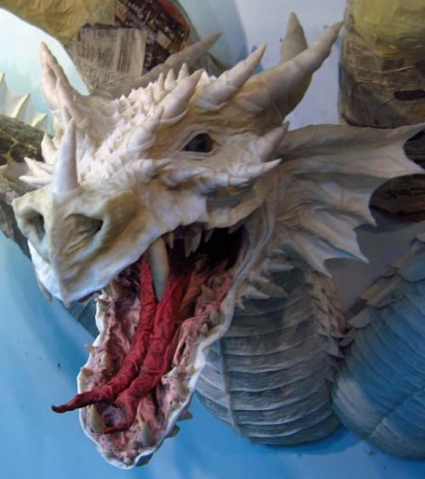 Paper Mache Tiamat dragon -red done1