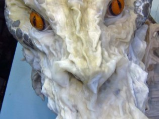 Paper Mache Tiamat dragon -black new nose