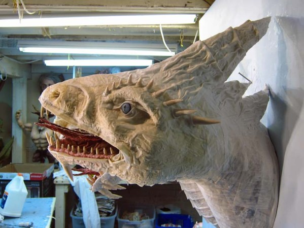 Paper Mache Tiamat dragon -white new neck thing