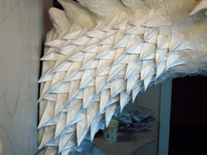 Paper Mache Tiamat Dragon - Blue scales