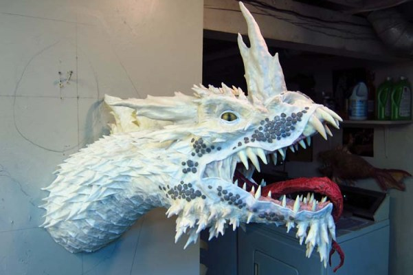 Paper Mache Tiamat Dragon - Blue assembled3