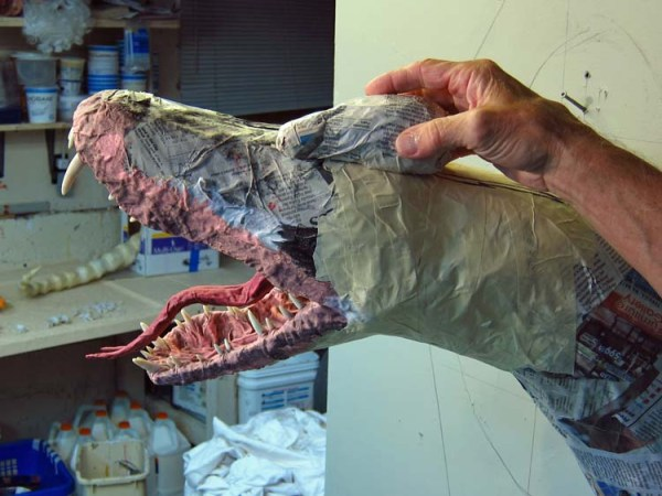 Paper Mache Tiamat - Green start assembly