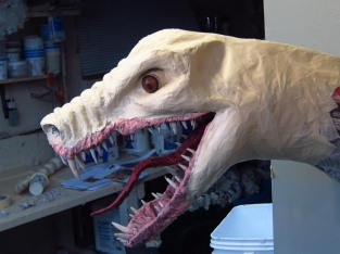 Paper Mache Tiamat - Green experiment on nose