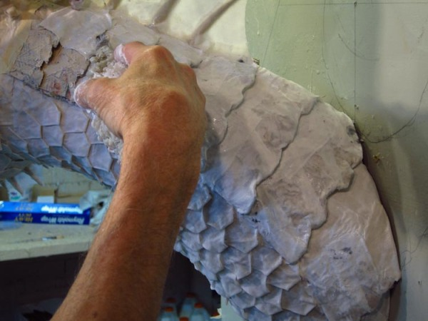 Paper Mache Tiamat - Green scales