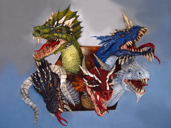 Paper Mache Tiamat Dragon