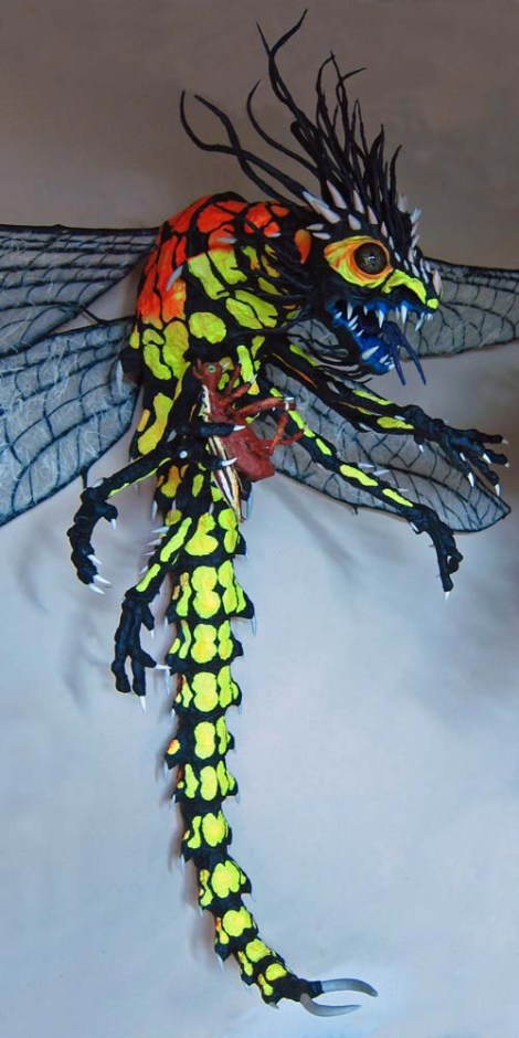 Paper Mache Dragonfly - other side